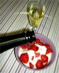 prickelnder Erdbeergenuss