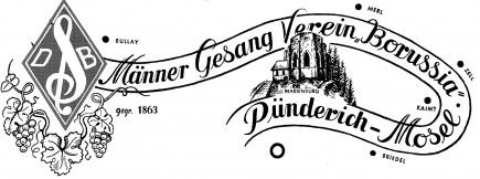 "Logo des MGV""Borussia""1863 Pünderich"