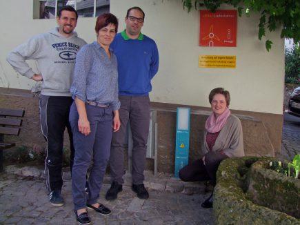 E-Bike-Ladestation Bäckerei Greis in Pünderich